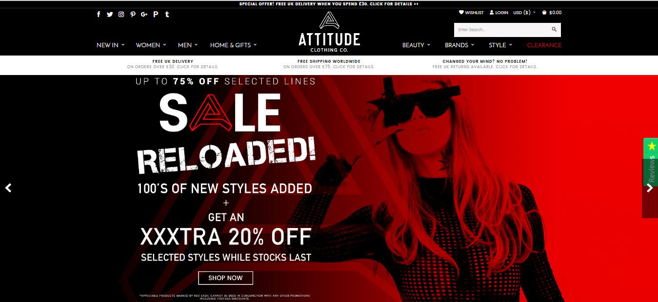 Attitude Clothing Voucher code at Dealvoucherz