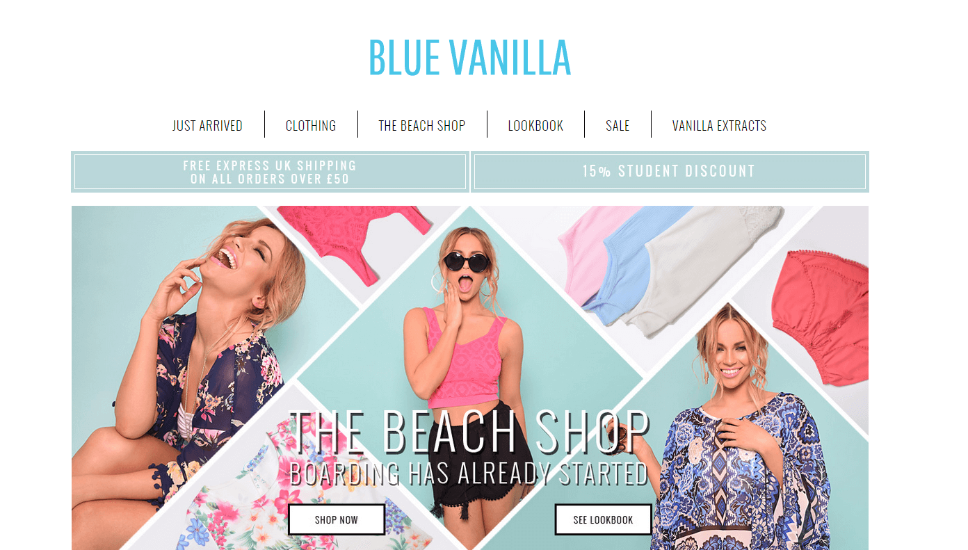 Blue Vanilla Promo code at Dealvoucherz